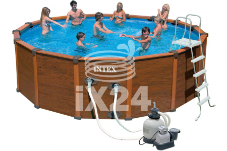 "Каркасный бассейн ""Sequoia Spirit Wood-Grain Frame Pools"" 478х124см Intex 54928/28382"